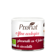 Afine rosii glazurate in 4 feluri de ciocolata, BIO, 130g, Pronat