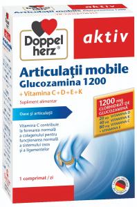 Aktiv Articulatii mobile, glucozamina 1200 x 30 cpr, Doppelhertz