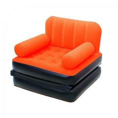 Fotoliu gonflabil plusat, portocaliu, 191x97x64cm, 2.55kg, Bestway