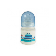 Biberon PP, decor fara BPA, cu gat larg si tetine, sistem anticolic, 150ml, BABY NOVA