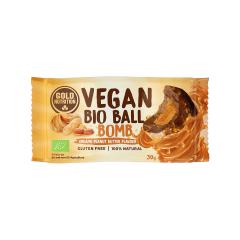 Bilă bio vegană-Bombă de unt de arahide 30 gr Gold Nutrition