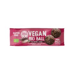 Bile vegane bio mini - Proteină din mazăre și cacao 2x17gr Gold Nutrition