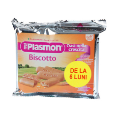 Biscuiti cu vitamine, oaza de crestere, 6+ luni, 60g, Plasmon