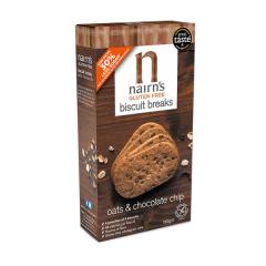 Biscuiti fara gluten Nairn's din ovaz integral cu ciocolata, 160g, Unicorn Naturals