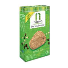 Biscuiti fara gluten Nairn's din ovaz integral cu fructe, 160g, Unicorn Naturals