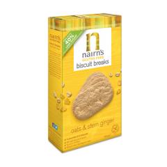 Biscuiti fara gluten Nairn's din ovaz integral cu ghimbir, 160g, Unicorn Naturals