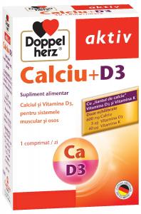 Aktiv Calciu+Vit.D3 x 30 cps, Doppelhertz