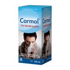 Carmol flu raceala si gripa albastru, 150ml, Biofarm