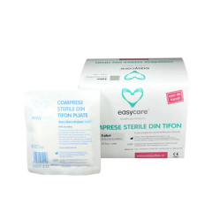 Comprese sterile din tifon pliate ,6 buc, Easycare
