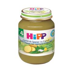 Crema de spanac si cartofi, BIO, 4+ luni, 125g, HIPP