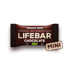 Lifebar baton cu ciocolata, RAW BIO, 25g, Lifebar