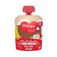 Mix de fructe - banane, mere, capsune si kiwi, 6+ luni, 90 g, Milupa