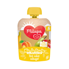 Mix de fructe - mere, pere, banane si caise, 6+ luni, 90g, Milupa