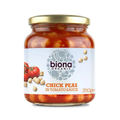 Naut in sos de rosii, BIO, 350g, Biona Organic