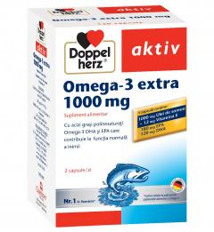 Aktiv Omega 3 Extra+Ul.Somon 1000mg x 120 cps, Doppelhertz
