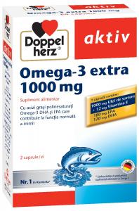 Aktiv Omega3 Extra+Ulei Somon 100mh x 60 cps, Doppelhertz