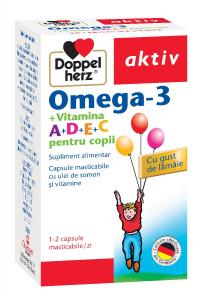 Aktiv Omega+Vit.A+D+E+C copii x 30 cps.mast, Doppelhertz