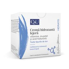 Q4U Crema hidratanta lejera cu vitamine si musetel, 50ml, TIS