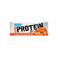 Raw protein 21% baton proteic cu alune si sare vulcanica, 50g, Max Sport