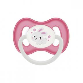 Suzeta latex rotunda 0-6 luni Bunny & Company Pink, 23/277, Canpol Babies