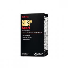 Mega men sport, complex de multivitamine pentru barbati, 90 tablete, GNC