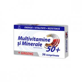 Multivitamine + Minerale Ginseng 50+, 56 comprimate, Zdrovit