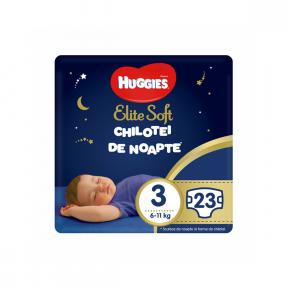 Chilotei de noapte Elite Soft Pants23 bucati, 6-11KG, Huggies