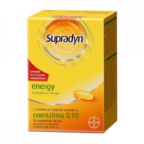 Supradyn energy cu coenzima Q10, 30 comprimate, Bayer