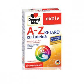 Multivitamine A-Z Retard cu luteina, 30 tablete, Doppelherz