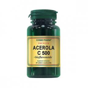 Acerola C 500 + Bioflavonoide, 20 tablete, Cosmo Pharm