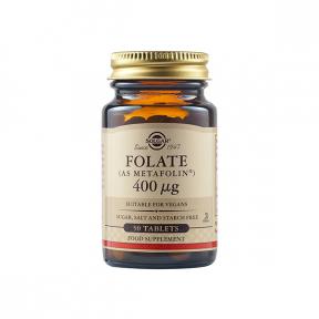 Acid folic Folate 400UG, 50 tablete, Solgar
