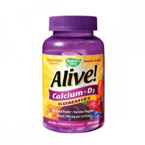 Alive! Calcium si D3, Gummies, 60 jel, Nature's Way, Secom