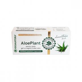 Gel cu argint coloidal si aloe vera, Aloe Plant, 20 ml, VIVA NATURA
