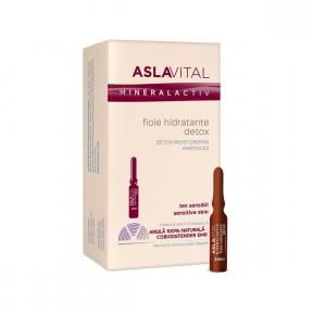 Fiole hidratante detox 7 buc, 2ml, Aslavital