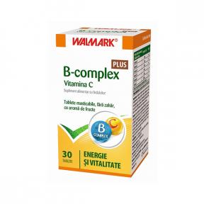 B Complex + Vitamina C, 30 tablete, Walmark