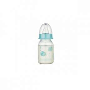 Biberon PP fara BPA, decor animalute, tetina rotunda, slow, 120ml, Baby Nova