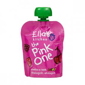 Piure de cirese si zmeura, BIO, 6+ luni, 90g, Ella's Kitchen