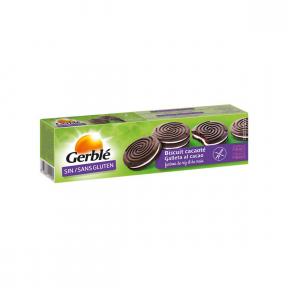 Biscuiti umpluti cu cacao, fara gluten, 125g, Gerble