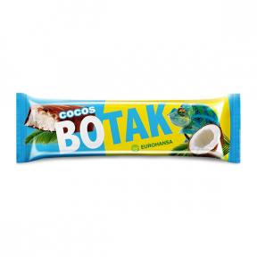 Baton de cocos in ciocolata cu lapte, 40g, Botak