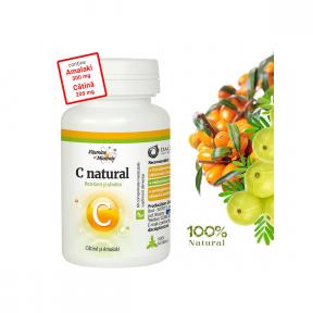 Vitamina C Natural cu Catina si Amalaki, 60cpr,  Dacia Plant