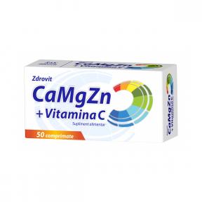 Ca+Mg+Zn+C, 50 comprimate, Zdrovit