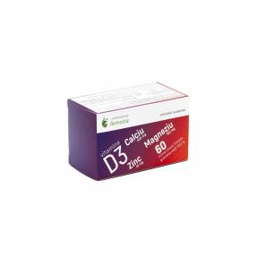 Ca+Mg+Zn+D3, 60 comprimate, Laboratoarele Remedia