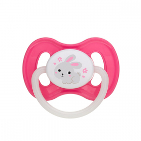 Suzeta latex rotunda 6-18 luni Bunny & Company Pink, 23/278,, Canpol Babies