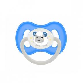 Suzeta latex rotunda 6-18 luni Bunny & Company Blue, 23/278, Canpol Babies