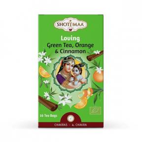 Ceai Shotimaa Chakras - Loving - ceai verde, portocala si scortisoara, BIO,16 plicuri, Shotimaa