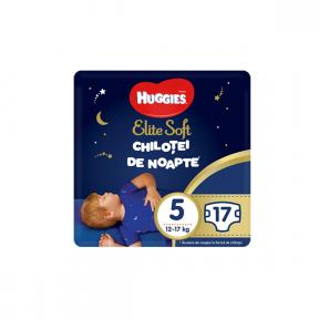 Chilotei de noapte  (5), 17buc, (12-17Kg), Elite Soft Pants HUGGIES