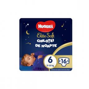 Chilotei de noapte  (6), 16buc, (15-25Kg), Elite Soft Pants HUGGIES