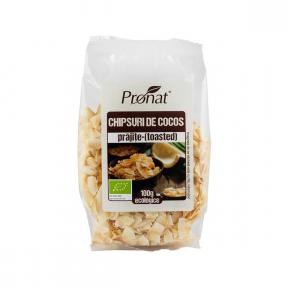 Chipsuri din nuca de cocos (prajite), 100g, Pronat