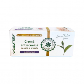 Crema antiacneica superactiva cu argila si propolis, 20ml, Viva Natura