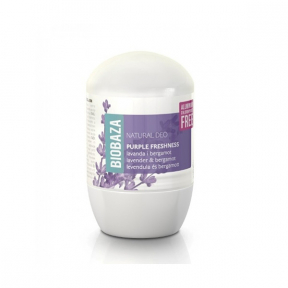 Deodorant natural pentru femei PURPLE FRESHNESS (lavanda si bergamot) - BIOBAZA